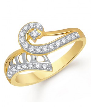 Contemporary-Golden-Alloy-Cz-Studded-Ring