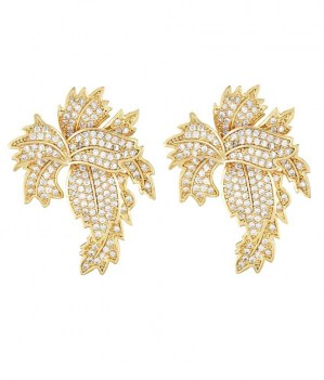 Golden-Brass-Studs-Coloured-Earrings