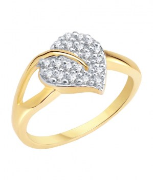 Love-Gold-Rhodium-Plated-Cz-Ring