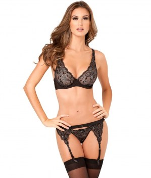 Lux-Lace-Lurex-Bra-Set