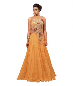 Multi-Retail-Beige-Net-Anarkali-Gown-Semi-Stitched-Suit
